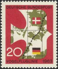 Germany 1963 Bird-flight Line/Railway/Rail/Transport/Birds/Trains/Maps 1v n45454