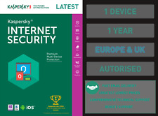 Kaspersky Internet Security - 1 PC or Device 1 Year - Genuine EU & UK Fast Email