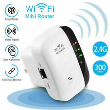 300Mbps Wireless WiFi Range Extender Repeater Signal Speed Amplifier Booster