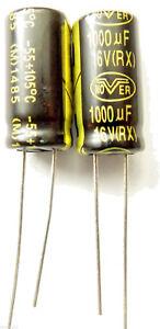 1000uf 16v 105c  LOW ESR  Size 20mmx10mm Long Life Nover RX1C102MFE x2pcs