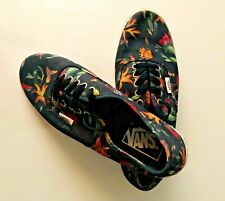 Vans Off The Wall Size 6.5 Skateboarding Shoes Black Floral Low Top Lace Up $59