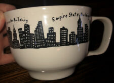 Fishs Eddy New York City Skyline Large Mug Cup Empire State and More 20 oz