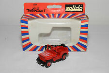 SOLIDO 2117 JEEP S.D.I. DU VAR COGOLIN FIRE CAR RED MINT BOXED