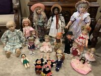 REDUCED! ! OLD VINTAGE DOLLS, CLOTHES & FURNITURE (Sold by the lot all together)