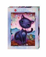 Heye Puzzles - 1000 Piece Jigsaw Puzzle  - Black Kitty  HY29687