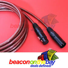 2x 10M Australian Made DMX Cable 3 Pin XLR Male Female Double Shield Short Proof