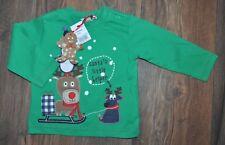 Bluezoo Baby Boy Long Sleeve Top 3-6 Months Festive Season Christmas Winter