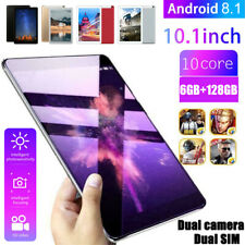 10.1 Inch Android 8.1 Ten Core 6+128G HD Game Tablet PC GPS Wifi Dual SIM Camera