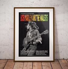 More details for bob marley 1973 the london speakeasy gigs poster print three sizes new exclusive