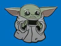 Fantasy Pin - Disney Star Wars Mandalorian Baby Yoda The Child Holding a Tea Cup