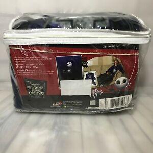 The Nightmare Before Christmas Comfy Blanket with Sleeves Jack Skellington 48x71