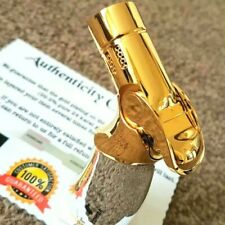 More details for 24k gold plated metal jobon table cigar lighter quad flame 4 jet turbo torch gas