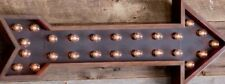 Pottery Barn Teen Arrow Marquee Wall Light Solid Hardwood Frame
