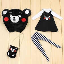 "Takara 12"" Blythe Doll Kumamon Outfits-Hat T-shirt Dress Socks Bags"