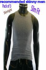 Pack of 3 Skinny Men's Cotton SkintightTank Top A-Shirts Sz XL, 2XL, 3XL