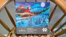"""Hallmark 550 piece puzzle, """"Merry Christmas to All"""" NEW Sealed Box!"""