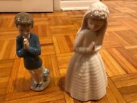 Lladro Nao lot of 2. - 1223 time to pray and 236 first communion retired