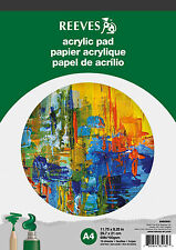 Reeves Acrílico Pintura Papel Pad - 190gsm, 15 hojas, tamaño A4