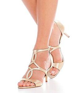 Vince Camuto Payto Gold Ankle Strap Sandal 7