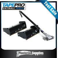 Plaster Trowel Boxes   TapePro T2 Flat Boxes x2 + 900mm Carbon Fibre  Handle