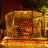 LED Net Mesh Christmas Fairy String Lights Wedding Xmas Party Outdoor Decor 220V