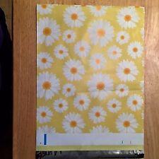 """5-DAISY Poly Mailers ~ 10"""" x 13"""" FLOWER Designer Shipping Envelopes + BONUS!"""