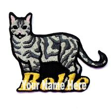 American Shorthair Cat Custom Iron-on Patch With Name Personalized Free
