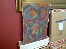Fine 20th c, French Oil on Canvas. Impressionist Colourful Abstract Shapes Study
