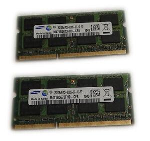 2x 2GB 4GB DDR3 SODimm 1066 MHZ Samsung RAM Arbeitsspeicher Notebook Laptop