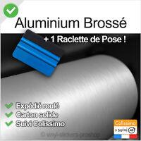 film vinyle alu brossé covering 152cmx30cm thermoformable adhésif + raclette