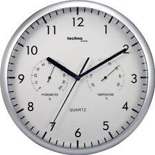 Technoline Wt 650 - Reloj de Pared con Termómetro Y Medidor de Humedad Cuarzo