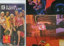 S CLUB 7 PARTY LIVE FILMED MANCHESTER EVENING NEWS ARENA PLUS POSTER VHS VIDEO