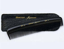 Hercules Mens Hair Comb In Leather Pouch Large Ebonite Made in Germany