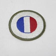 New listing Vintage France Round Flag Shoulder Patch Army New Unused Green Boarder