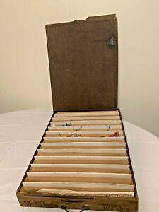 "ANTIQUE Brainerd & Armstrong  Embroidery Thread/Floss Box Organizer 17""x11.5"""