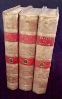 """RARE!!! """"Les Essais de Montaigne""""de 1793 Magnifiques Reliures 3/3 Tomes"""
