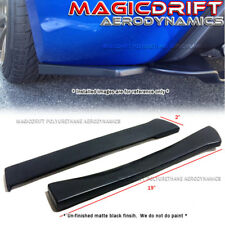 "Universal Fit 19"" Long Black Rear Bumper Sides Extension Splitter Wing Lips"