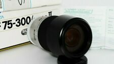 TOP MINT Silver Minolta AF Zoom lens 75-300mm F4.5-5.6 From Japan with cap,BOX