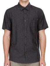 NEW + TAG BILLABONG MENS HELIX MEDIUM SHORT SLEEVE CASUAL DRESS SHIRT MIDNIGHT