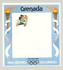 Grenada 1984 Disney Olympics Imperf Chromalin Proof Border of M/S