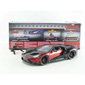 Jada 31190 1/24 (Miles Morales) Spiderman with 20147 Ford GT Hollywood Rides Mov