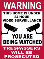 24 Hour Video Surveillance You Are Being Watched Security Metal Sign 9x12