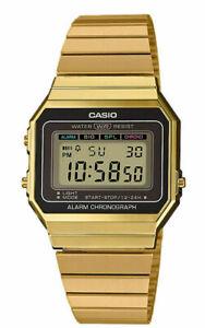 Casio A700WG-9A Vintage Series Gold Tone Stainless Steel Bracelet Digital Watch