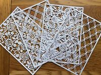 4 x TATTERED LACE PANEL DIE CUTS Chains - Rose Garden - Foliage - Double Lattice