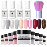 15Pcs/Set NICOLE DIARY Glitter Dipping Powder Nail Art Dip Liquid Starter Kit