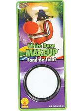 White Grease Paint Make-Up Clown Halloween Fancy Dress Brand New