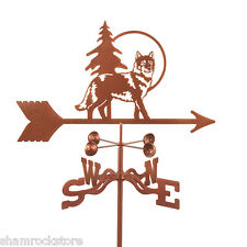 Wolf Weathervane - Grey, Gray or Timberwolf - with Choice of Mount