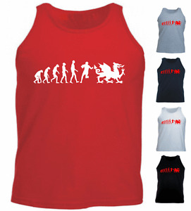 Ape Human Rugby Wales Evolution Welsh New Gift Athletic Vest Tank Top