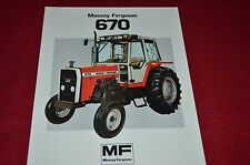 Massey Ferguson 670 Tractor Dealer's Brochure FMD 910-183-25-1
