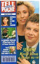 D- Télé Poche N°1425 Simone: Mireille Dumas,Mathilda May,Jordy,Harrison Ford